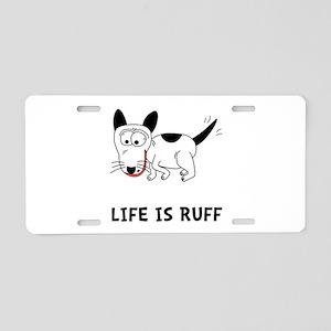 Dog Ruff Aluminum License Plate