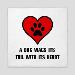 Dog Wag Heart Queen Duvet