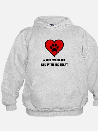 Dog Wag Heart Hoodie