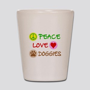 Peace-Love-Doggies Shot Glass