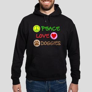 Peace-Love-Doggies Hoodie (dark)