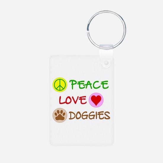 Peace-Love-Doggies Keychains