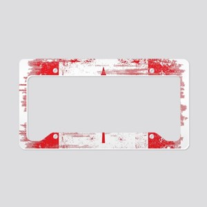 Vintage Canadian Flag  License Plate Holder