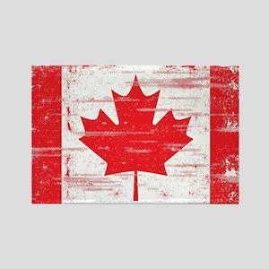 Vintage Canadian Flag  Rectangle Magnet