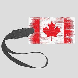 Vintage Canadian Flag  Large Luggage Tag