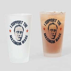 FDR Maximum Wage Drinking Glass