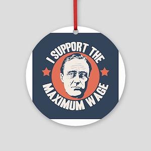 FDR Maximum Wage Ornament (Round)