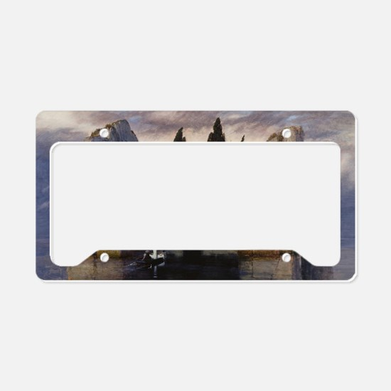 Isle of the Dead by Arnold Bo License Plate Holder
