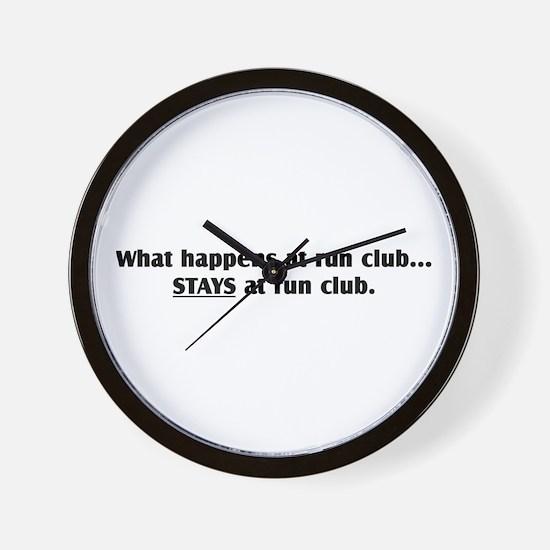 """What Happens at Run Club"" Wall Clock"