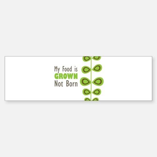 my food Sticker (Bumper)