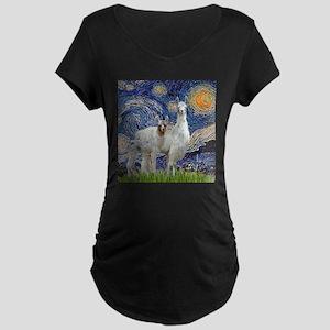 Starry Night - Llama Mama-Baby Maternity T-Shirt
