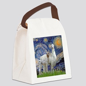 Starry Night - Llama Mama-Baby Canvas Lunch Bag