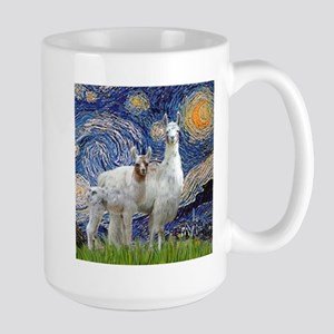 Starry Night - Llama Mama-Baby Mugs