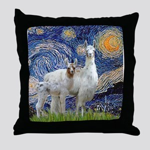 Starry Night - Llama Mama-Baby Throw Pillow
