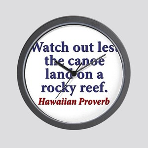 Watch Out Lest The Canoe Wall Clock