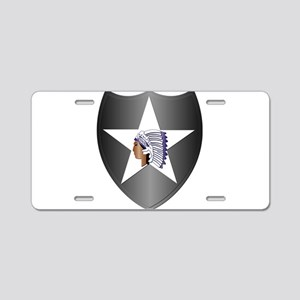 SSI - 2nd Infantry Division Aluminum License Plate