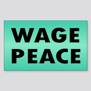 WAGE PEACE ... Rectangle Sticker
