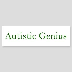 Autistic Genius 2 Bumper Sticker