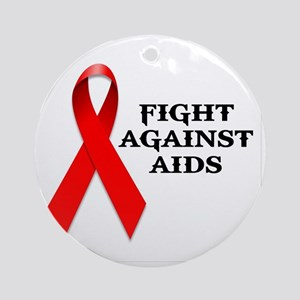 AIDS Round Ornament