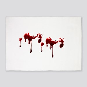 Blood Spatter 5'x7'Area Rug