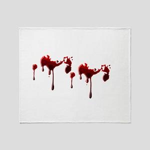 Blood Spatter Throw Blanket