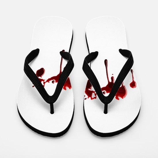Blood Spatter Flip Flops