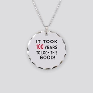 It Took 100 Birthday Designs Necklace Circle Charm