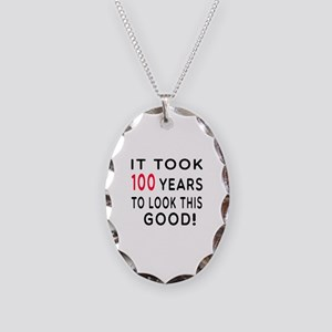 It Took 100 Birthday Designs Necklace Oval Charm