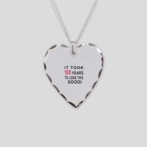 It Took 100 Birthday Designs Necklace Heart Charm
