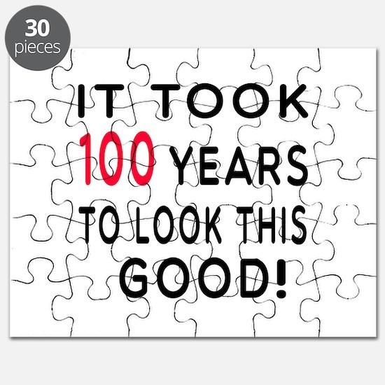 It Took 100 Birthday Designs Puzzle