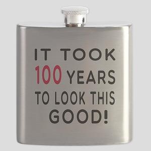 It Took 100 Birthday Designs Flask