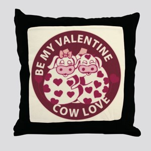 Cow Love Throw Pillow