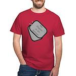 My Fiance is an Airman dog tag Dark T-Shirt