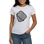 My Fiance is an Airman dog tag Women's T-Shirt