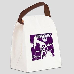 Roughnecks Wife- Purple Canvas Lunch Bag