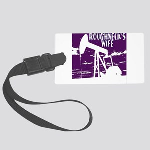 Roughnecks Wife- Purple Luggage Tag