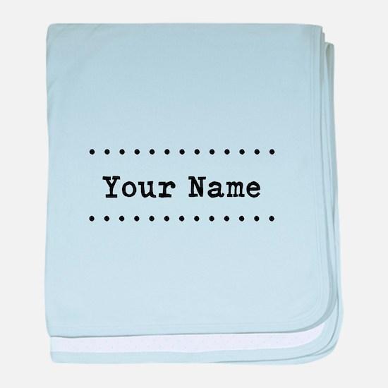 Custom Name baby blanket