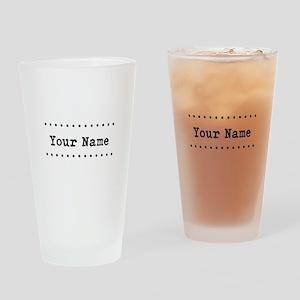 Custom Name Drinking Glass