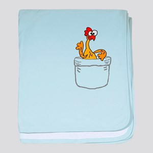 Rubber Chicken in a Pocket baby blanket