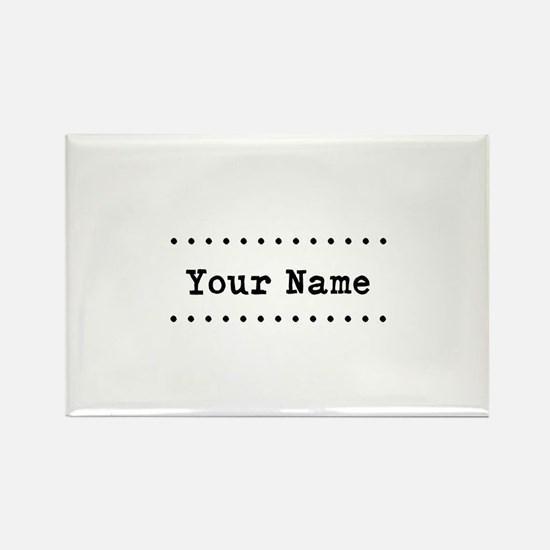 Custom Name Rectangle Magnet