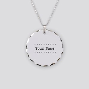 Custom Name Necklace Circle Charm