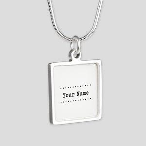 Custom Name Silver Square Necklace