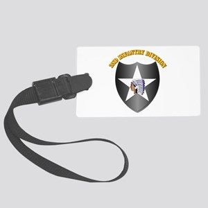 SSI - 2nd Infantry Division with Text Large Luggag