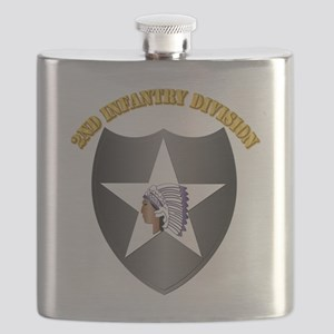 SSI - 2nd Infantry Division with Text Flask