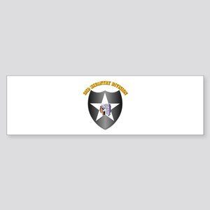 SSI - 2nd Infantry Division with Text Sticker (Bum