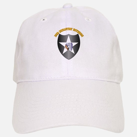 SSI - 2nd Infantry Division with Text Baseball Baseball Cap