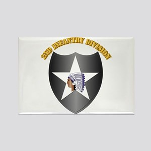 SSI - 2nd Infantry Division with Text Rectangle Ma