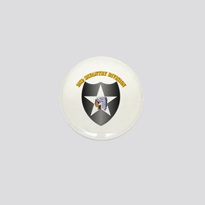 SSI - 2nd Infantry Division with Text Mini Button