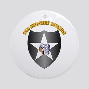 SSI - 2nd Infantry Division with Text Ornament (Ro
