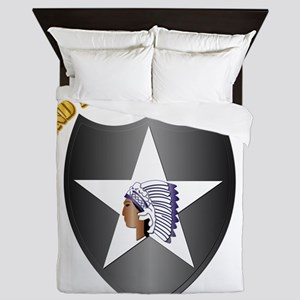 SSI - 2nd Infantry Division with Text Queen Duvet